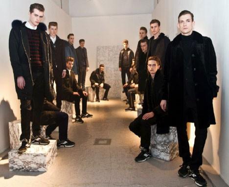8a79e5f68 Hainsworth fabric on the catwalk at London Fashion Week - AW Hainsworth